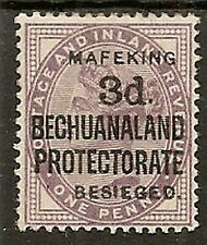 CAPE OF GOOD HOPE MAFEKING SIEGE 1900 3d ON 1d LILAC SG12 ( SMALL) CAT £1100