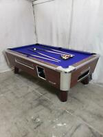7' VALLEY COIN-OP TABLE MODEL ZD4- NEW PURPLE CLOTH, ALSO AVAIL IN 6 1/2', 8'