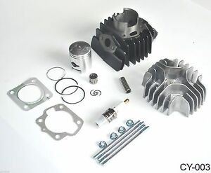 Cylinder Piston  Gasket Top End Kit for Kawasaki KDX50 2003 2004 2005 2006  CY-3