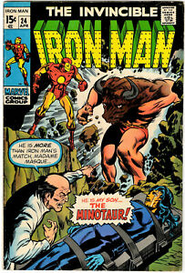 IRON MAN #24 - APRIL 1970 - EARLY 15¢ MARVEL CLASSIC - LOW STARTING PRICE