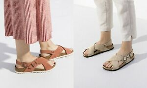 BIRKENSTOCK TULUM SUEDE WOMEN'S SANDALS SOFT FOOTBED EARTH RED TAUPE LIGHT ROSE