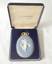 Boxed Wedgwood Dancing Hours Medallion - Blue Jasperware Plaque