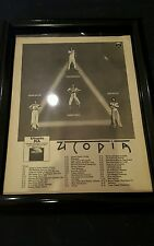 Utopia Rare Original Ra Tour Promo Ad Framed!
