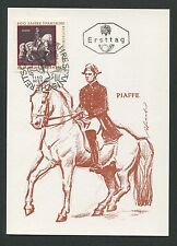 AUSTRIA MK 1972 REITSCHULE DRESSUR PFERD HORSE CARTE MAXIMUM CARD MC CM d1357