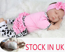 "Silicone Reborn Baby 22"" Sleeping Doll Soft Vinyl Lifelike Newborn Doll Gifts"