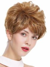 PERRUQUE pour femme court volumineux ondulés Sombre Chauffant blond dw2700
