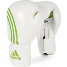 NEW adidas Boxing BOX-FIT Training Gloves-White/Green size 12 oz.
