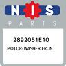 2892051E10 Nissan Motor-washer,front 2892051E10, New Genuine OEM Part