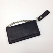 Genuine Leather Hippie Black Credit Card/ID Wallet With Chain Made in India