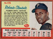 1962 Post #173A Roberto Clemente VG-VGEX+ Wrinkle Pittsburgh Pirates FREE S/H