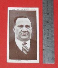 CHURCHMAN CIGARETTES CARD 1938 BOXING PERSONALITIES BOXE JOHNNY SHARPE