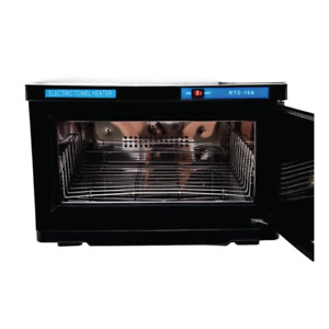 16L Black UV Electric Towel Warmer Steriliser Cabinet Beauty Spa Heat Sanitiser