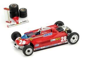 Ferrari F1 126Ck Turbo #28 Monaco Gp 1981 Pironi +Trans.Wheels BRUMM 1:43 R368T