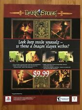 Darkstone PS1 Playstation 1 2000 Vintage Poster Ad Print Art Promo RPG Horror