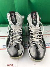 reputable site 63c73 e2dc3 Nike LEBRON X 10 PRISM BLACK STRATA GREY WHITE BLUE 541100-004 Size 8.5