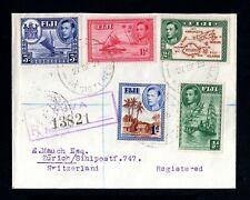 10-FIJI -AIRMAIL REGISTERED COVER SUVA to ZURICH (switzerland).1939.WWII.British