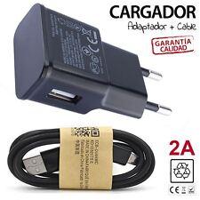 cable de datos y cargador compatible 2A Samsung Galaxy S4 S5 S6 S7 NOTE BLANCO