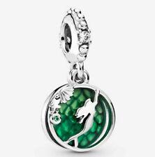 💚 1 pc European charm Disney's Little Mermaid Ariel silver & green dangle
