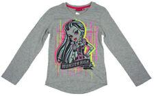 T-shirts et débardeurs gris à longueur de manches manches longues pour fille de 8 à 9 ans