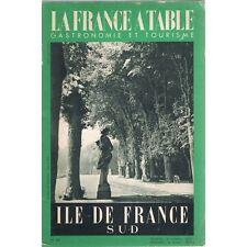 La FRANCE à TABLE N°49 Chasse à Courre Robinson L'Hay des Roses Longpont 1954