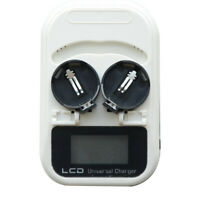 Rechargeable 3.6V LCD EU plug 2-slot button battery charger-