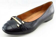 Naturalizer Size 6.5 WW Black Smoking Flats Leather Women Shoes