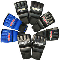Cool MMA Muay Thai Training Gym Half Mitts Punching Bag Sparring Boxing Gloves