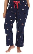Joules Snooze Pyjama Bottoms Size 18 Xmas Dogs Navy Blue 100% Cotton Trousers