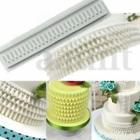 Ruffle Border Swag Silicone Fondant Mould Cake Decor Bake Sugarcraft Icing