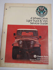 NAPA CHASSIS PARTS 4 Wheel Drive Light Truck & Van Service Guide