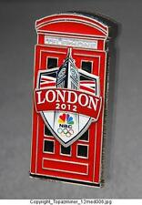 OLYMPIC PINS 2012 LONDON ENGLAND ANTIQUE PHONE BTH SPONSOR NBC MEDIA TELEVISION