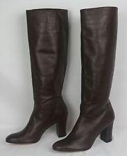 NEW Women's Cognac leather BANANA REPUBLIC Knee High Fashion BOOTS $249 Size 9.5