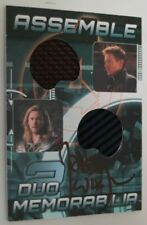 Avengers Assemble Thor & Hawkeye AD-16 Authentic Costume Card Joss Whedon SIGNED