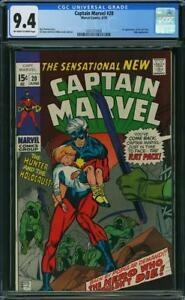 CAPTAIN MARVEL #20 CGC 9.4 1st Rat Pack! Hulk app!