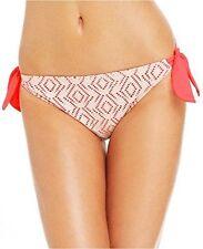 Hula Honey Junior Large Solid Ginger Crochet Overlay Swim Bottoms L NWTD