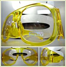 OVERSIZED EXAGGERATED VINTAGE RETRO Style SUN GLASSES Super Thick XLYellow Frame