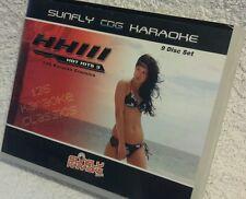 Karaoke CDG Box Conjunto de 9 Discos, sfhpau 003 Sunfly Hot Hits 3,see descripción, 135 Trks