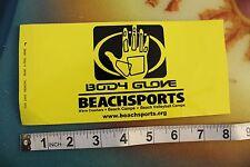 "New listing Vintage Surfing Decal Sticker Body Glove Beachsports yellow palm ~8"""