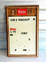 Vintage Coors Beer Bar Advertising Sign Menu man cave slats
