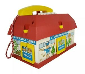 Vintage WORKING Emergency Center Playset With Sounds Toy Phone 911 Rescue Police