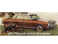 1974 Plymouth Valiant Brougham Auto Car Refrigerator / Tool Box  Magnet
