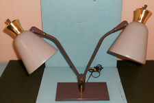 VINTAGE RETRO  MID CENTURY  LIGHTOLIER ERA DUEL CONE  TABLE LAMP