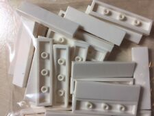 LEGO GRAB BAG -  QTY 10- White 1X4 FLAT TILE WITH GROOVE