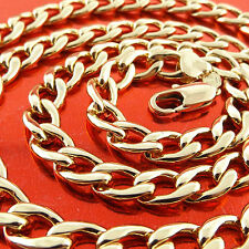 Gold Solid Men'S Heavy Link Design Necklace Chain Genuine Real 18K Yellow G/F
