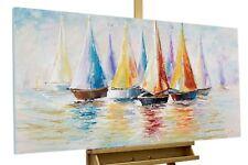 Acryl Gemälde 'SEGELBOOT BUNT'   HANDGEMALT   Leinwand Bilder 120x60cm