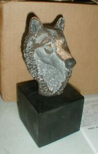 Legends Endangered Wildlife Art Sculpture Statue FOREST SPIRIT Wolf w/COA & Box