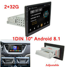 "New listing 1Din 10"" Android 8.1 Car Stereo Radio Head Unit Mirror Link 2+32G Wifi Gps Navi"