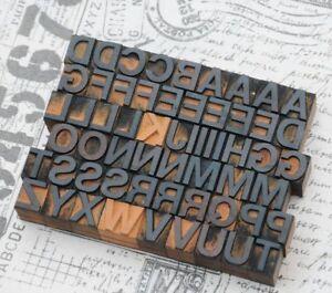 A-Z Alphabet Holzbuchstaben 18mm Lettern Holzlettern Vintage Industriedesign vtg