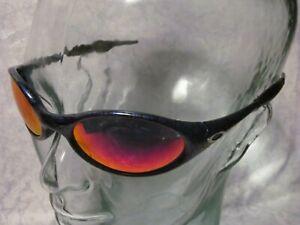 Oakley EYE JACKET 1.0 Sunglasses - Cobalt Blue w/ Red Iridium Lenses