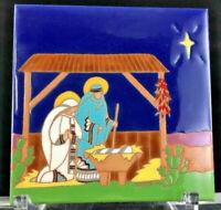 Tecolote Of New Mexico Design Tiles  Baby Jesus Mary Joseph Manger
